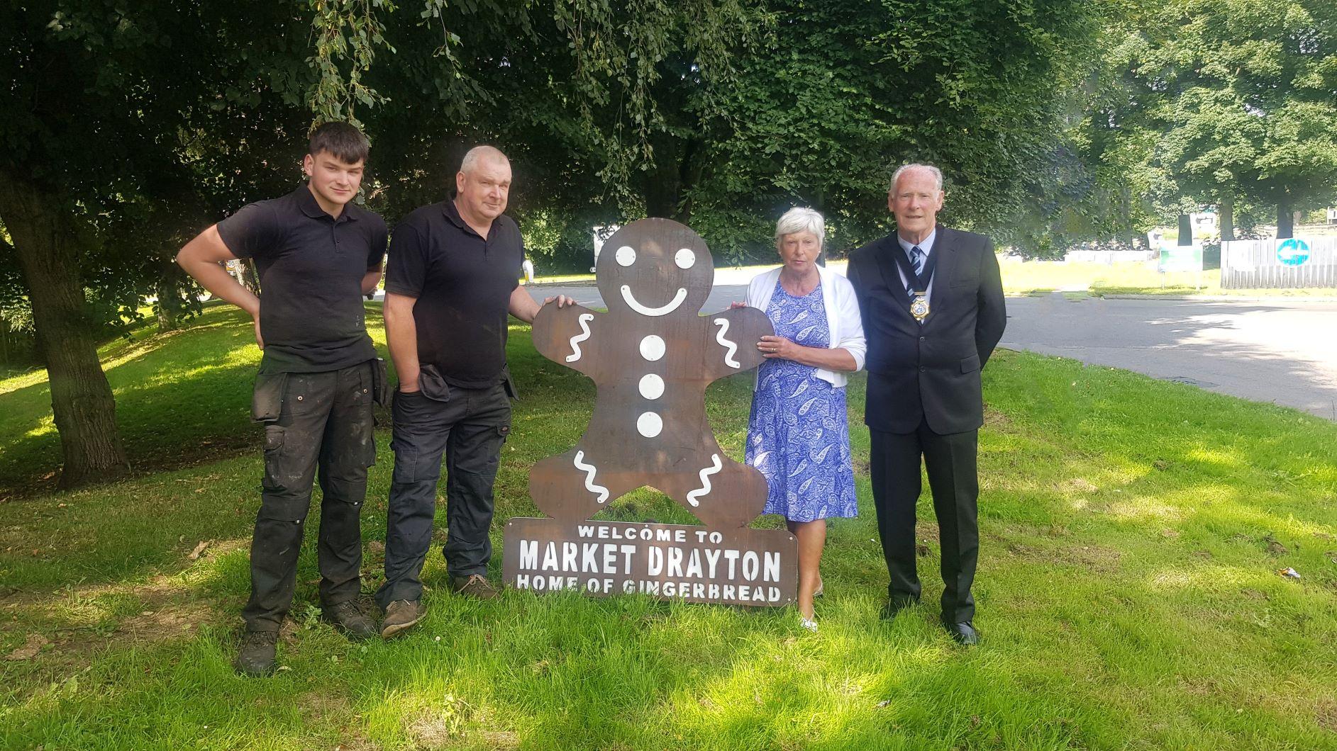 Gingerbread Man in Market Drayton