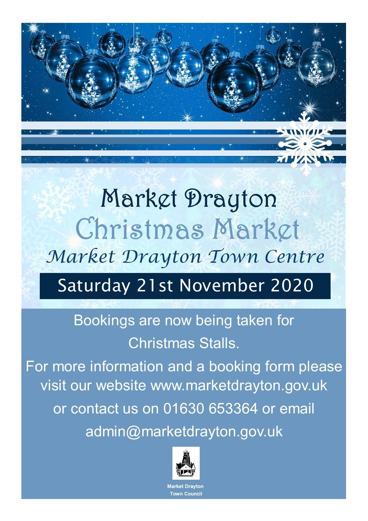 Christmas Market Stall Poster